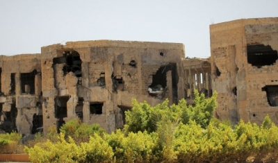 Libya, Benghazi, Public University: destroyed buildings
