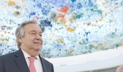 Secretary-General Antonio Guterres at the UN in Geneva (room of the UN Human Rights Council