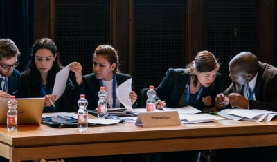 Geneva Academy Students at the Nuremberg Moot Court