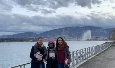 The 2021 Pictet Team in front of the Geneva Lake