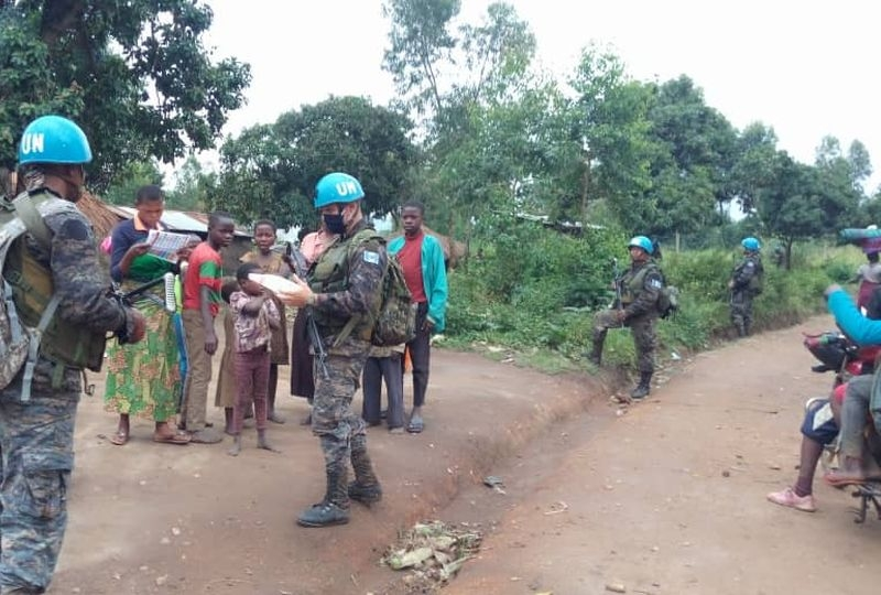 Irumu, Ituri, DRC: MONUSCO soldiers help combat the armed groups who daily threaten the lives of civilians in Ituri