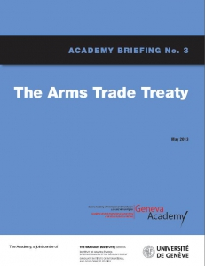 Cover of the Briefing No3: The Arms Trade Treaty