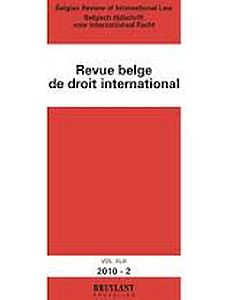 Cover of the Revue belge de droit international