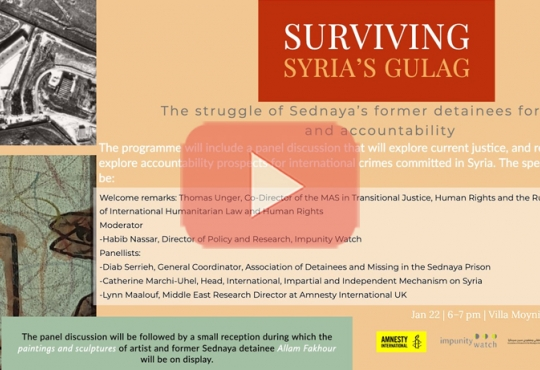 Surviving Syria's Gulag: The Struggle of Sednaya's Former Detainees for Justice and Accountability