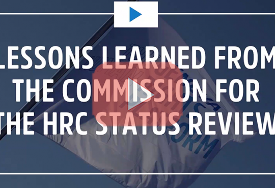 Lessons Learned From The Commission For The HRC Status Review